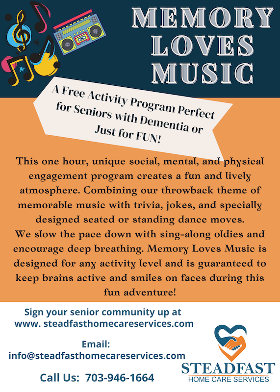 Music Activities for Seniors and Dementia Patients in Mclean and Fairfax County